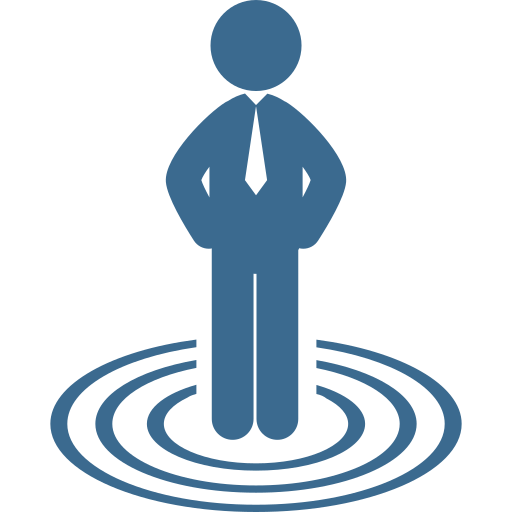 businessman-standing-on-business-target-concentric-circles